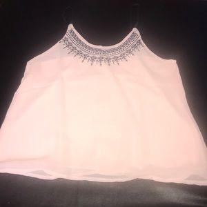 light pink semi formal tank top